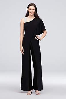 Long Jumpsuit One Shoulder Formal Dresses Dress - RM Richards