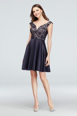 Short A-Line Off the Shoulder Dress - City Triangles