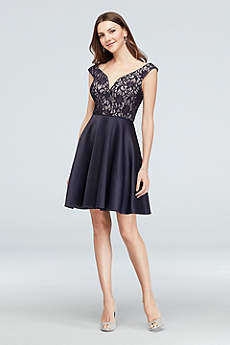 Short A-Line Off the Shoulder Cocktail and Party Dress - City Triangles