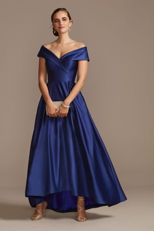 Long Ballgown Off the Shoulder Dress - Xscape