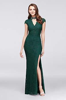 Long Mermaid/ Trumpet Cap Sleeves Formal Dresses Dress - City Triangles