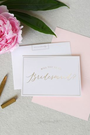 Will You Be My Bridesmaid Note Card Set