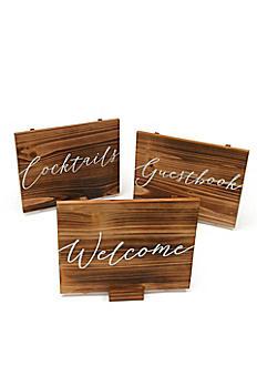 Wooden Script Sign Set 35000