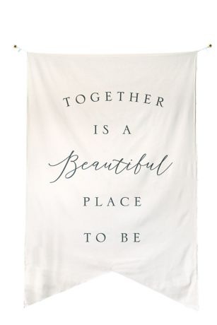 Together Is A Perfect Place To Be Backdrop Banner