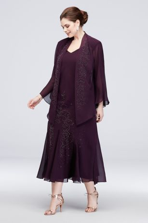 Eggplant Dress Chiffon M R