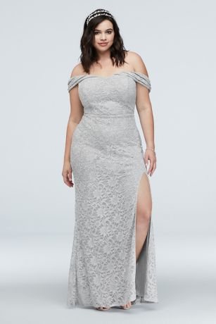 Long Sheath Off the Shoulder Dress - City Triangles
