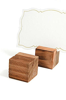 Wooden Place Card Holder Set 36771