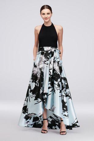 High Low Ballgown Halter Dress - Ignite
