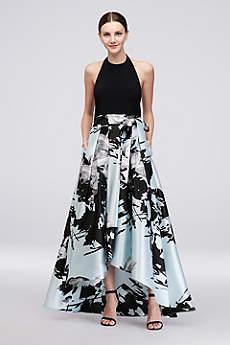 High Low Ballgown Halter Formal Dresses Dress - Ignite