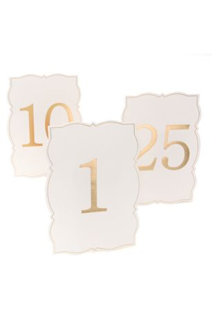 Ornate Edge Gold Foil Table Numbers