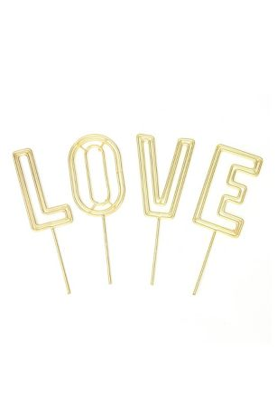 Love Wire Cake Topper Set