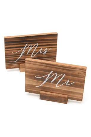 Wood Mr and Mrs Signs