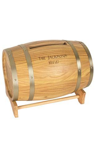 Personalized Reception Card Wine Barrel