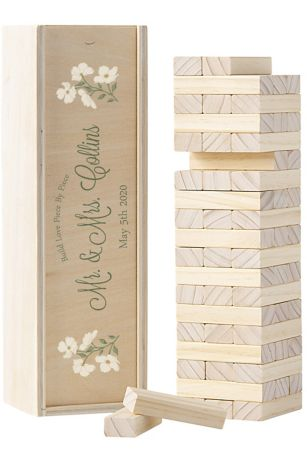 Personalized Floral Building Block Guestbook