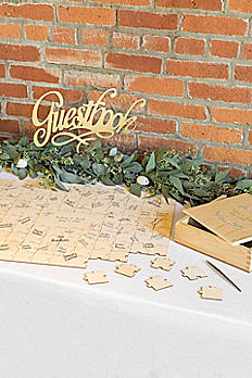 Personalized Wooden Guest Book Puzzle 3965