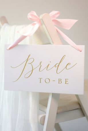 Bride To Be Wooden Sign with Ribbon