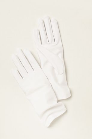 Matte Satin Wrist Length Gloves