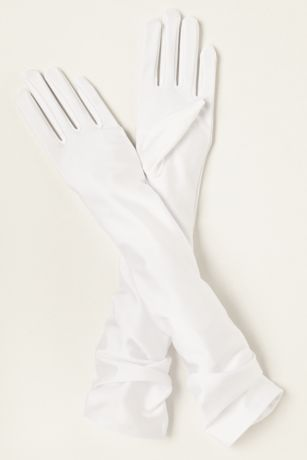Matte Satin Over-The- Elbow Gloves