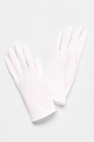 Girls Matte Satin Wrist-Length Gloves