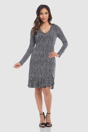 Short A-Line Long Sleeves Dress - Karen Kane