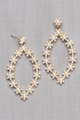 Daisy Pearl Teardrop Earrings