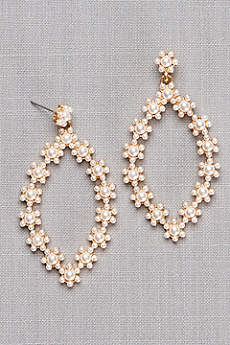 Daisy Pearl Teardrop Earrings