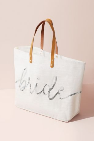 Sparkle Sequin Script Bride Tote Bag