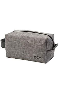 Personalized Grey Dopp Kit