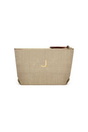Personalized Napa Linen Cosmetic Bag