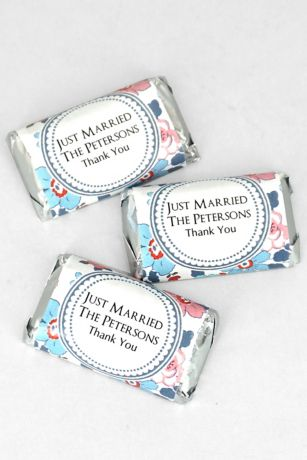 Personalized Floral Pattern Hersheys Miniatures