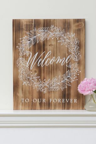 Welcome To Our Forever Wood Sign