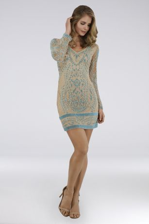 Short Sheath Long Sleeves Dress - Lara