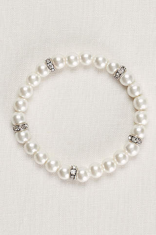 Pearl And Crystal Alternating Bracelet
