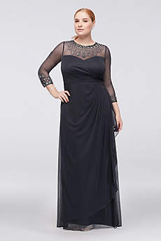 Long Sheath 3/4 Sleeves Formal Dresses Dress - Alex Evenings