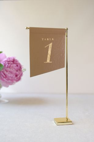 Slanted Vegan Leather Table Number