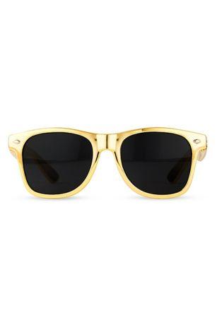 6badd501f9 Personalized Metallic Gold Favor Sunglasses