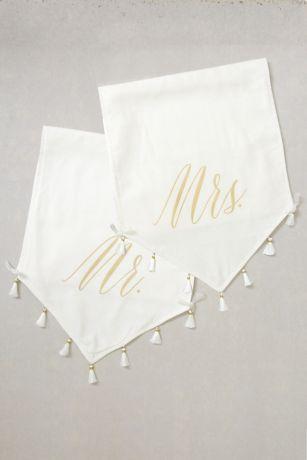 Mr and Mrs Tasseled Sign Set