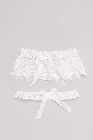 Bridal garters wedding garter sets in all sizes davids bridal today i say i do lace garter set junglespirit Image collections