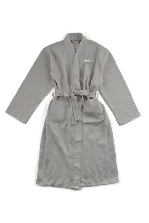 "Personalized Men""s Cotton Kimono Robe"