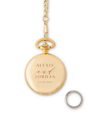 Personalized Pocket Ring Holder with Chain