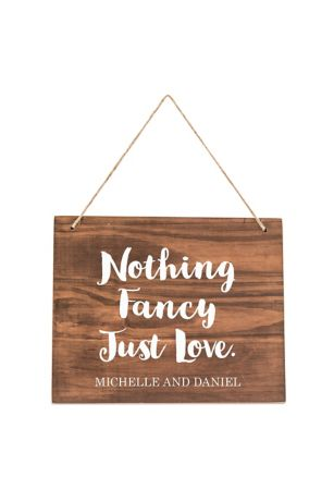 Personalized Hanging Wooden Sign