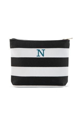 Personalized Bliss Striped Makeup Bag