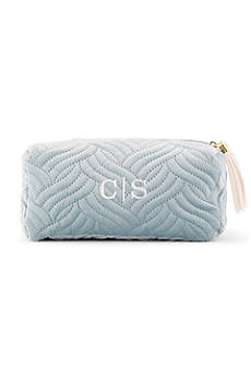 Personalized Quilted Velvet Makeup Bag