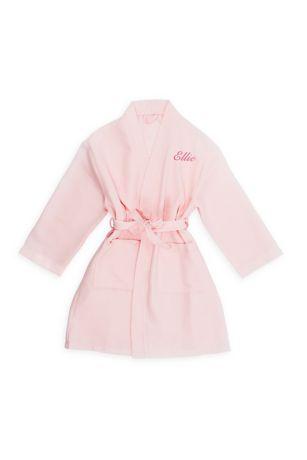Personalized Tween Waffle Kimono Robe