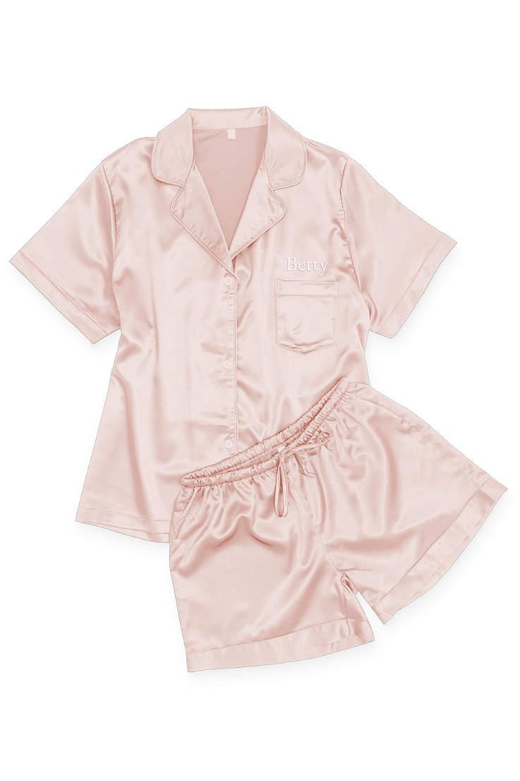 Bridal pajama set Monogram White Pajama Set Bride Pajamas White Pj set Bridal Custom Pyjamas Short Set
