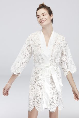 Robes Wedding Robes For Bride More In Silk Lace Cotton David S Bridal