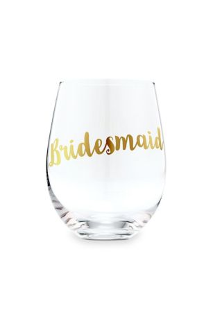 Bridesmaid Stemless Toasting Wine Glass