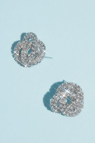 Crystal Love Knot Earrings