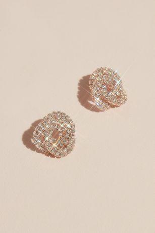 Crystal Love Knot Earrings