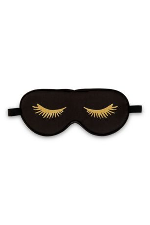 Black Satin Eyelashes Eye Mask